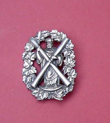 Aberdeen Administration battalion Glengarry badge stamped silver