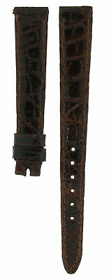 Rolex ROLEX SHINY BROWN CROCODILE LEATHER STRAP FOR LADIES DATE & OYSTER PERPETU