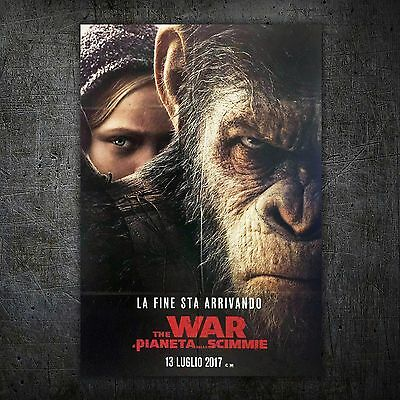 Original Movie Poster War for the Planet of the Apes 100x140 CM