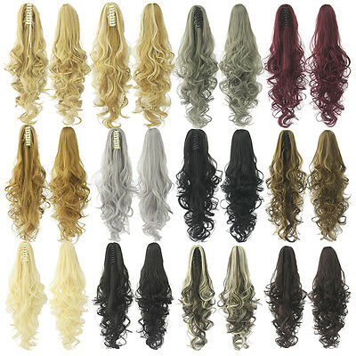 queue de cheval cheveux extension claw clip en cordon fausse vague postiche Hair