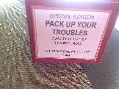 PACK UP YOUR TROUBLES Special Edition   BRAND NEW !!  PIANOLA  PLAYER PIANO ROLL