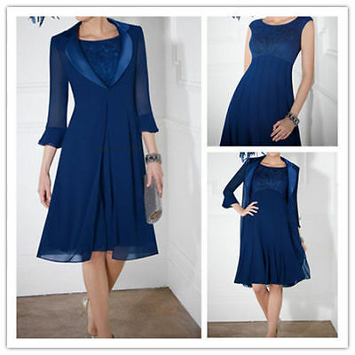 SHORT ROYAL BLUE Mother of the Bride Groom Dress Plus Size ...