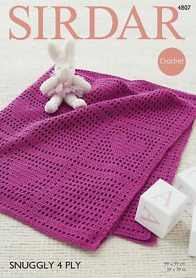 Crochet Baby Blanket Patterns 4 Ply : Sirdar Snuggly 4PLY Baby Shawl Blanket Crochet Pattern ...