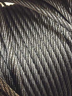 316 Marine Stainless Steel 7X7 Wire Rope Cable 4mm or 6mm Options HEAVY DUTY