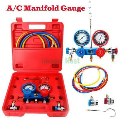 A/C Manifold Gauge Hose 5FT Air Conditioner Refrigerant Maintenance R134 R12 R22