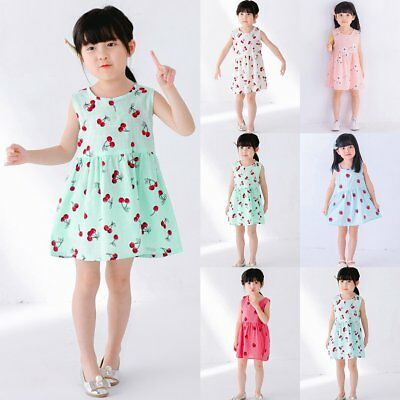 Toddler Kids Baby Girls Summer Casual Princess Dress Party Pageant Tutu Dresses