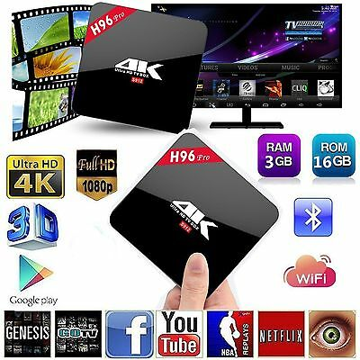 H96 PRO HD 4K TV BOX Android 6.0 Amlogic S912 Octa Core 3GB/16GB WIFI Fully Load