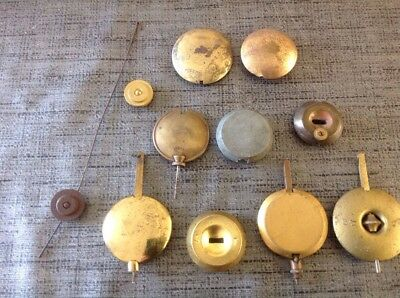 Antique Clock Pendulums Hangers Bobs Job Lot Of 11