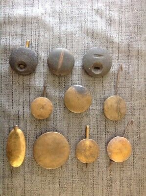 Antique Clock Pendulums Hangers Bobs Job Lot Of 10