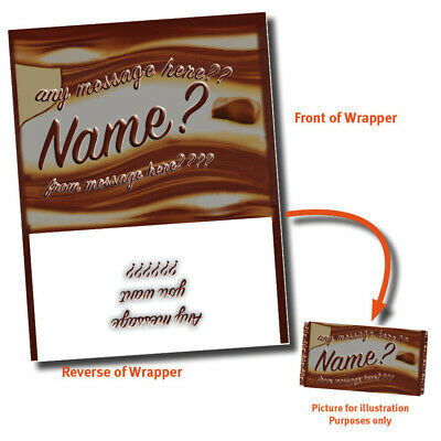 VARIOUS PERSONALISED CHOCOLATE BAR WRAPPER fits Galaxy 110g Gift Idea Present