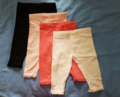 Baby girl pink white black leggings 6-9 months Next, F&F. HARDLY WORN, IF AT ALL