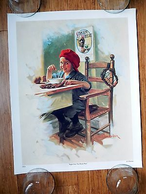 """CREAM of WHEAT """"Right Over The Home Plate"""" E.V. BREWER 1923 16"""" x 20"""" Poster"""