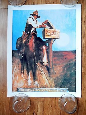 """CREAM of WHEAT """"Where the Mail Goes CREAM of WHEAT Goes"""" WYETH 1908 16x20 Poster"""