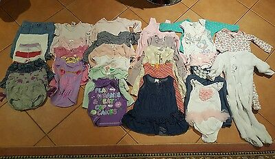 bulk girls clothing size 0 or 6 to 12 months (29 items)