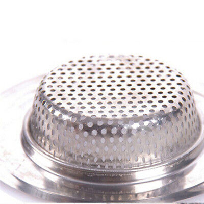 Kitchen Sink Filter Net Stainless Steel Anti-Blocking Mesh Bathroom Outlet Plug