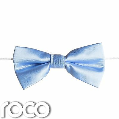Boys Sky Blue Elasticated Dickie Bow Tie Page Boy Wedding Prom Dickie Bows