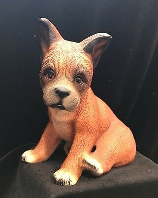 "Boxer Puppy Dog Figurine Vintage Global Art Knox 5"" High H333E82"
