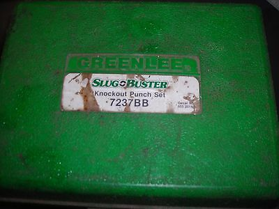 "Greenlee Slugbuster 7237BB Knockout Punch Set *Used, Missing 2"" punch*"