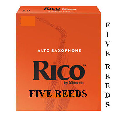 5 Rico Orange Alto Saxophone  Reeds Available Strengths 1.5 2 2.5 3 3.5 Free Del