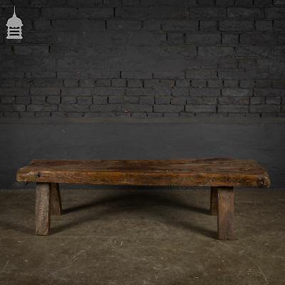 Authentic 18th C Elm Pig Bench