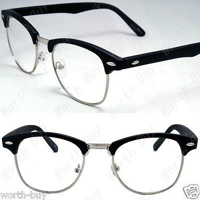Black Silver Club master Designer Clear Lens Frames Glasses Mens Womens Fashion