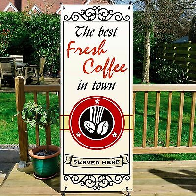 The Best COFFEE BANNER DISPLAY SYSTEM Free Standing, Coffee Sign, IVORY