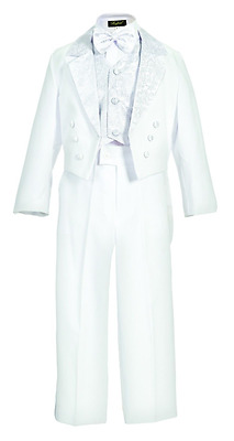 Clearance Black White tuxedo tail toddler boy communion ring bearer recital suit