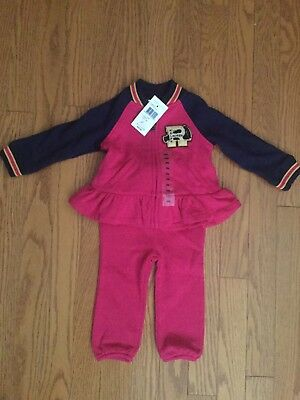 Ralph Lauren Girl's NWT Set Outfit Sweatshirt And Pants Size 9 Months
