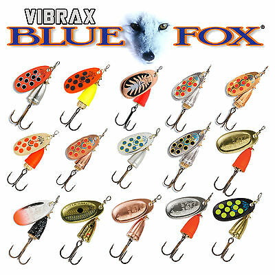 Vibrax Blue Fox Spinners *4 Pack* Various Size/Colour - Mid-Depth Vibrating Spin