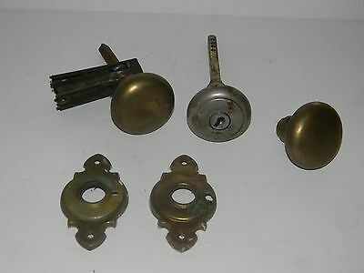 Vintage Antique Door Knob And Hardware Lot 2 Inch Diameter Brass & Metal