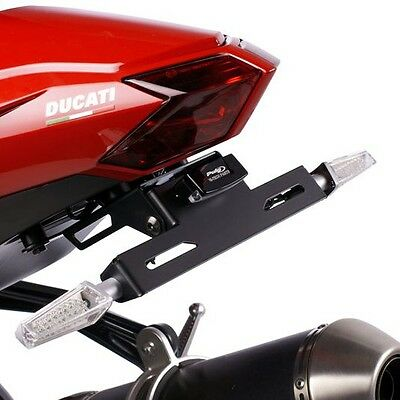 Support de Plaque + éclairage Ducati Streetfighter/S 09-13 Puig noir