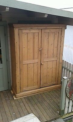 19th Century solid Pine Farmhouse style Storage Cupboard