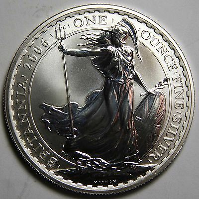 2006 UK BRITANNIA GREAT BRITAIN 1 OUNCE SILVER COIN - 2 POUNDS £2 Lot# N 461