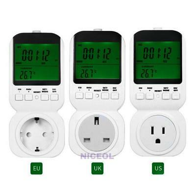 Multi-function Thermostat Timer Switch Socket with Sensor Probe and LED Display