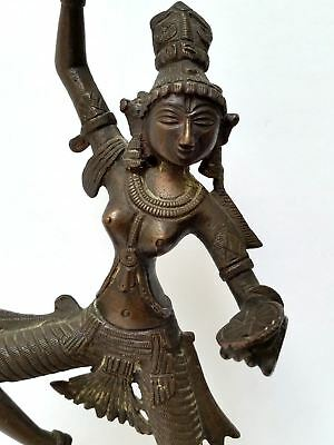 Antique Bronze Figure Statue of a Dancing Woman