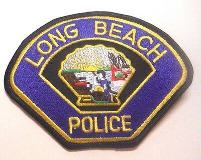 Old Long Beach California Police Patch Unused