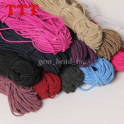 5Yards Waist Band Round Elastic Stretch Cord Trim DIY Sewing Crafts 2.5mm