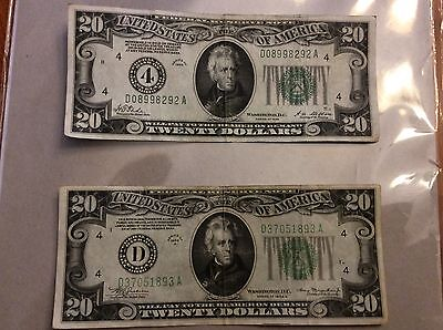 Series 1928 & 1934A $20 Notes