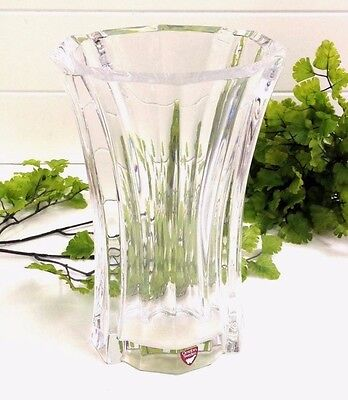 ORREFORS SWEDEN LARS HELLSTEN LH 4599-22 LARGE GLASS VASE THICK GLASS With LABEL