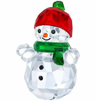 Swarovski Crystal Christmas Creation 5288205 Snowman with Red Brand New in Box