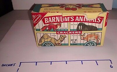 Barnum's Animals Cardboard Box 1972 Nabisco Crackers - NICE!