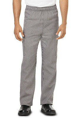 Dickies Unisex Chef Pant Houndstooth DC12 HDTH  SIZE MEDIUM FREE SHIP!