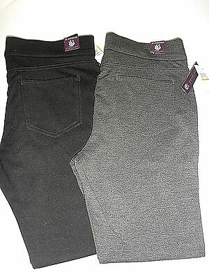 "NWT $46 ""Gloria Vanderbilt: Annabella"" Pull-On STRETCH Knit Womens Dress Pants"