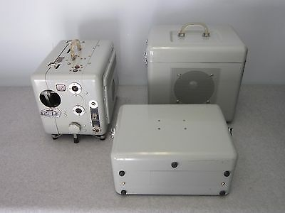 Rare Viewlex 16mm Motion Picture Projector, w Tube Amp & Speaker, Museum Quality