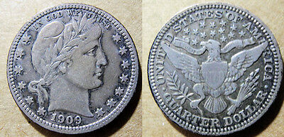 USA - Barber quarter, 1916-P, full LIBERTY visible, XF or better, 99 cents NR