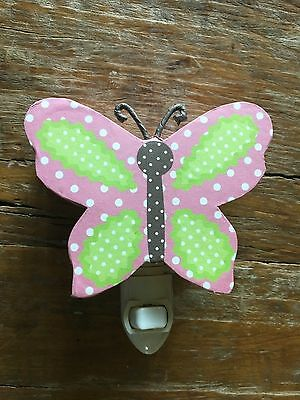 Pottery Barn Kids Butterfly Nightlight Pink and Green