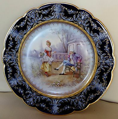 Beautiful 19th Century Sevres Porcelain Hand Painted Cabinet Plate #3 - Signed