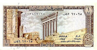 Lebanon ... P- 61a ... 1 Livre ... 1964 ... Ch.*XF-AU* 1st Date of Issued.