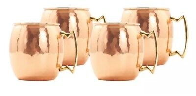 Set of 4 24 Oz Solid Copper Moscow Mule Mug