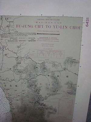 LARGE Map..China S. Coast...Fu-Jung Ch'I...Survey 1940..30 x 42 in